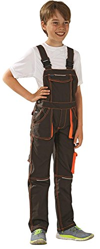 6122 Planam Basalt Junior Latzhose, oliv/orange (110/116)