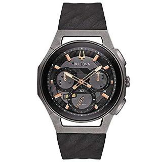 Bulova Men's Chronograph Quartz Watch with Rubber Strap 98A162 (B01M0QEU6M) | Amazon price tracker / tracking, Amazon price history charts, Amazon price watches, Amazon price drop alerts