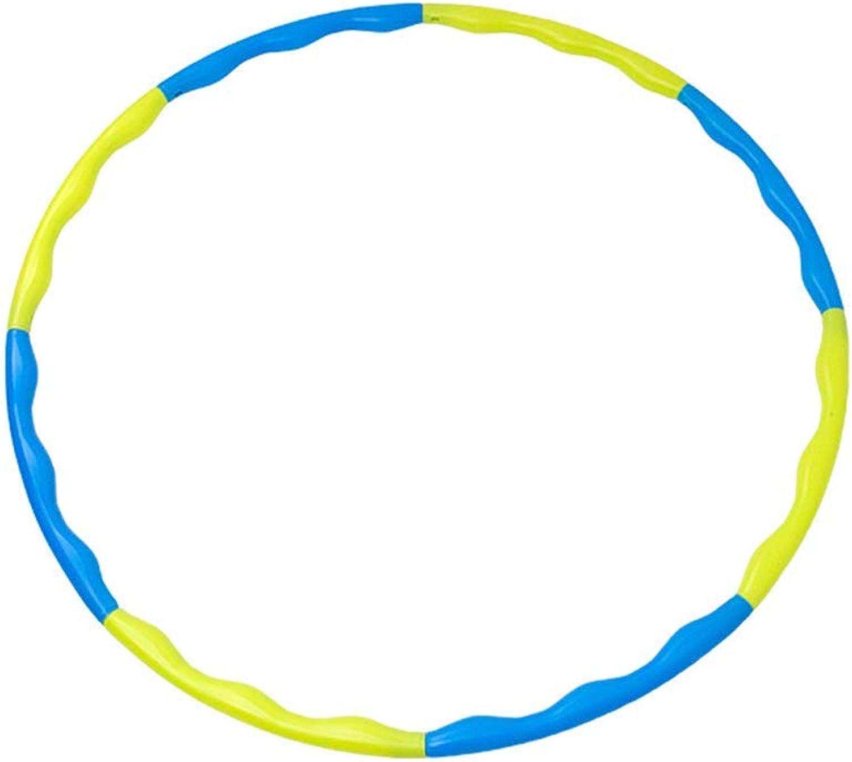 HULAQ Fitness-übung Hula-Hoop 8 Abschnitt abnehmbare PE-Kunststoff Fitness Abnehmen Reifen für Kinder oder Erwachsene Spa im Freien