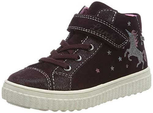 Lurchi Mädchen YUNA-TEX Hohe Sneaker, Rot (Burgundy 23), 34 EU