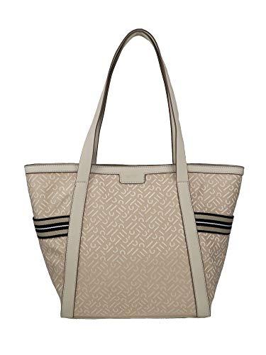 ESPRIT Damen Handtasche Tasche Shopper Cherry Shopper Beige 030EA1O324-270