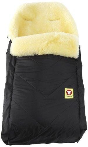 Product Image of the Fareskind Baby Go Comfy Sheepskin Bunting Bag, Black, 6-36 Months