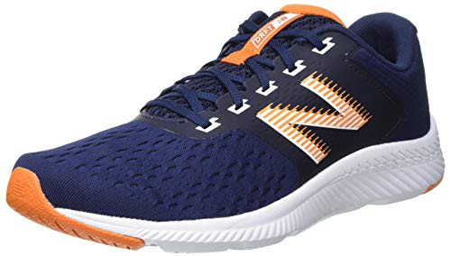 New Balance Draft, Scarpe per Jogging su Strada Uomo, Blu (Navy/Orange), 50 EU X Larga