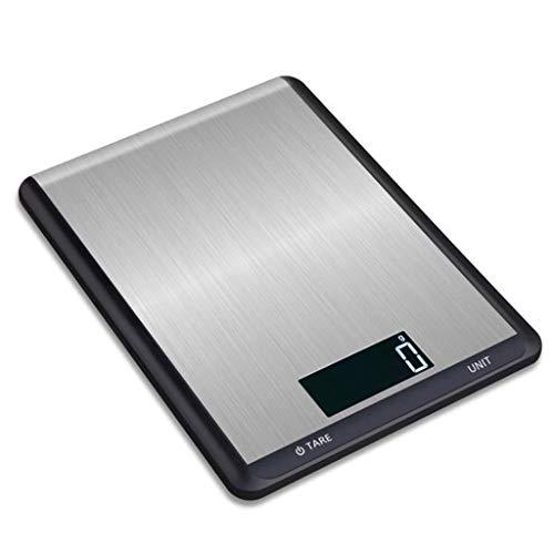 DCJLH Báscula de Cocina Cocina Balanzas Electrónicas De Blanco Casero del Acero Inoxidable Cocción De Alimentos A Escala 5kg (Color : Black, Size : 5kg/1g)