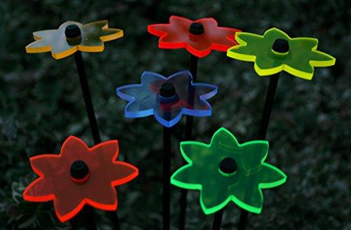 6er Set Ø5cm Leuchtblumen Nr.3 Sonnenfänger Gartenstecker