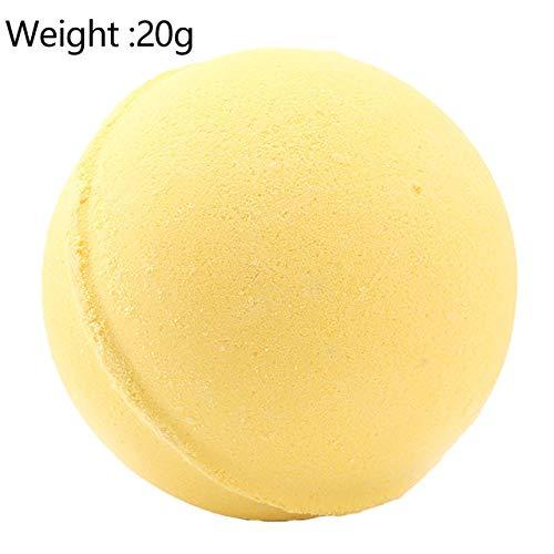 XiaoOu Bomba de baño orgánica 1pcs Baño de Aguas Profundas Cuerpo de Sal Aceite Esencial Bola de baño Baño de Burbujas Natural Leche de limón Verde Rosa al Azar, Amarillo 20g