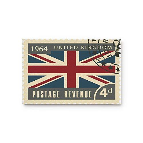 Cloud Dream Home Vintage Stamp 1964 UK British Flag Door Mats