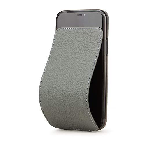 MARCEL ROBERT - Funda de Piel con Tapa para iPhone 11, Modelo Patentado – Piel Natural Premium – [ Gris Acero ]
