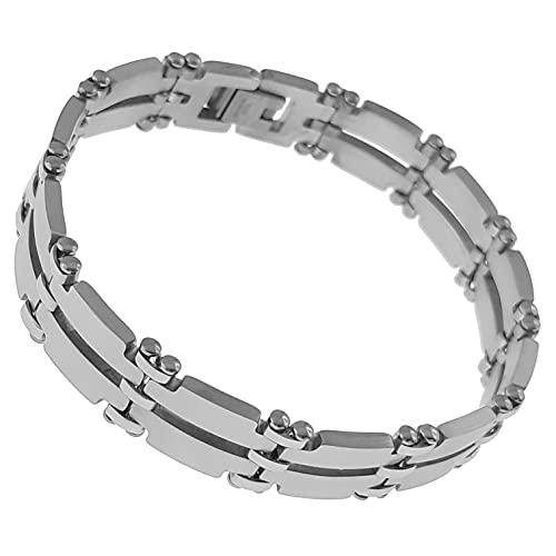 Pulsera ancha de acero – Longitud 21 cm – Hombre