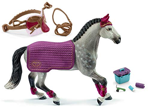 Schleich Horse Club 42456 + 42490 + 42366 - Juego de accesorios para el cuidado de caballos
