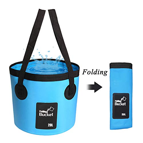 Collapsible Bucket Portable Folding Buckets Water Basin Container Hiking Camping