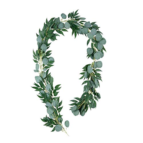bjlongyi Artificial Ivy Garland,Fake Ivy Leaves Green Rattan Plants Hanging Vine Plant for Wedding Party Garden Wall Decoration Green