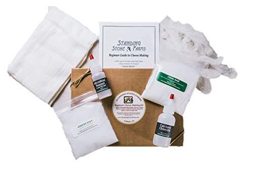 Standing Stone Farms Basic Beginner Cheese Making Kit – Mozzarella, Burrata, Burricota, Chevre, Ricotta, Mascarpone & Butter!