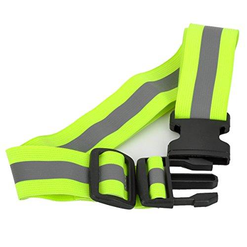 YFY-48 reflektierend Sicherheit Hüftgurtband Warngürtel beim Laufen Radfahren Joggen Outdoor Sports Klettverschluss