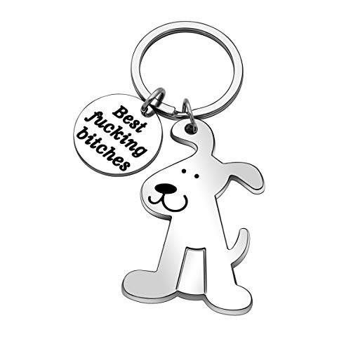 Best Friend Keychain Dog Puppy Key Chain Ring for Women Men Kids Gifts Car Keychain Christmas Birthday Thanksgiving Gifts