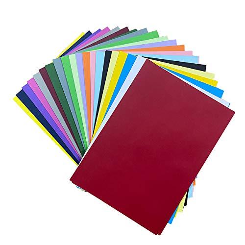 DELLCCIU 20 Farben, A4 90 g/m², 100 Blatt Verdicken Buntpapier Farbigen A4 Kopierpapier Papier, Farbige Buntes Papier Ton-Papier, für DIY Kunst Handwerk (20 * 30cm)