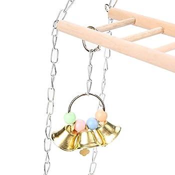 Clasken Échelle Suspendue, escaliers pour Animaux de Compagnie, Conception à Double Couche Animaux similaires pour Hamster Petit Perroquet pour Rat