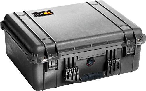 PELI 1550 Robuster Peli Case Koffer für Video und Audio Equipment, IP67 Wasser- und Staubdicht, 33L Volumen, Hergestellt in Deutschland, Ohne Schaum, Schwarz