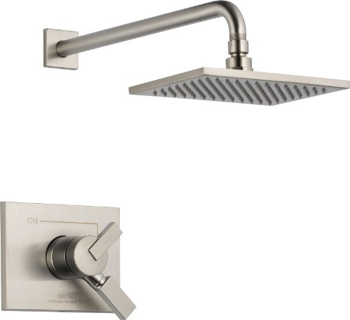 Delta Faucet Vero 17 Series Dual-Function Shower Trim Kit with Single-Spray Touch-Clean Rain Shower Head, Stainless T17253-SS (Valve Not Included)