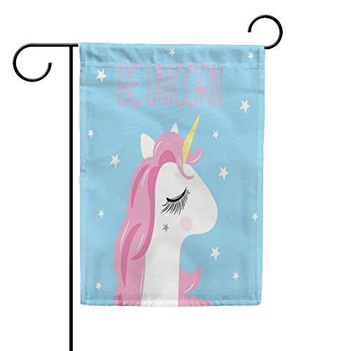 CHEHONG Drapeau de Jardin avec Inscription « Be Unicorn Star », bannière pour bébé, Durable, pour extérieur, Saison, décoration de Maison, Polyester, 12X18 inch