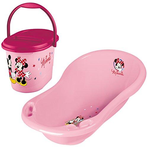 Keeeper 2-teiliges Badeset MINNIE MOUSE Badewanne mit Windeleimer pink
