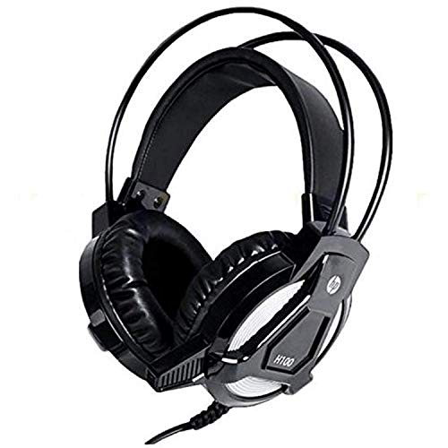 HP Wired Gaming PC HeadsetStereo Sound HP H100 Headphone with Microphone for PC, Xbox, PS4, Nintendo Switch and Mobile Device