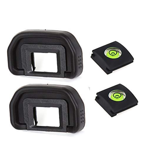 Visor de lente de cámara para Canon EOS 90D, 80D, 70D, 60D, 50D, 40D, 20D/5D MKII 6D MKII, sustituye a EB y burbuja nivel de burbuja (2+2 paquetes)