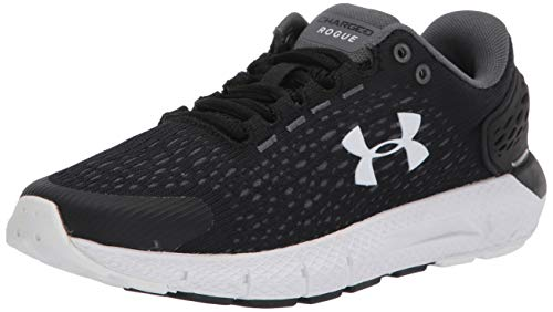 Under Armour Women's Charged Rogue 2 Running Shoe, Black (002)/White, 8.5