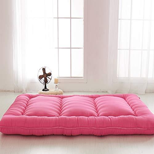 Kunyun Plato Plegable 8cm Tatami Floor Mattery Fashion Comfy Futon para Dormitorio/Siesta de casa Espesada Uso único Colchón de Dormir/Cama (Color : Rojo, Talla : 150x200cm)