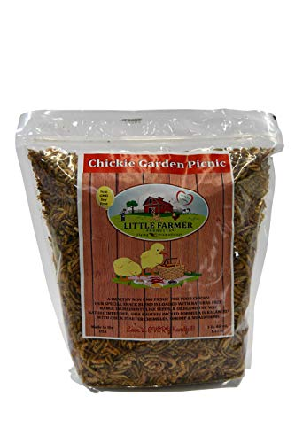Chickie Garden Picnic Non-GMO, Soy-Free Chick Treats   Premium Poultry Meal Worm & Herb Mix   3 lbs