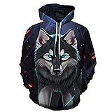 zysymx Marke Wolf Printed Hoodies Herren/Damen 3D Sweatshirt Qualität Plus Size Pullover Neuheit...