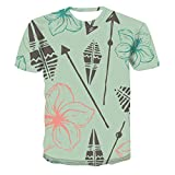 3D Print T-Shirt Fashion Plant Flowers Graphic Tee Crewneck Short Sleeve T-Shirts for Men Women XL