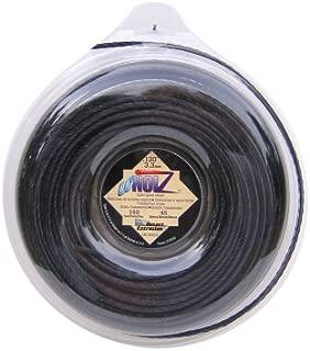LoNoiz .130-Inch-by-150-Foot Spool Commercial Grade Spiral Twist Quiet 1-Pound Grass Trimmer Line, Black LN130DLG-12