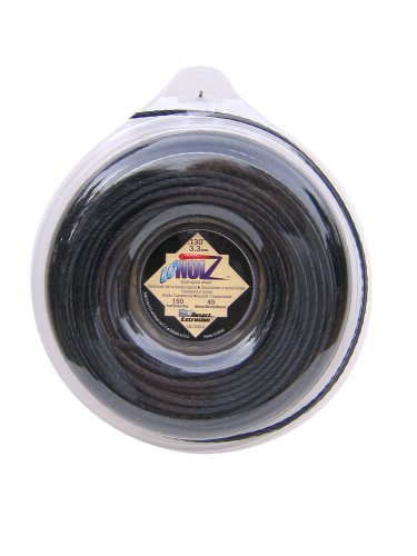 LoNoiz .130-Inch-by-150-Foot Spool Commercial Grade Spiral Twist Quiet 1-Pound Grass Trimmer Line, Black LN130DLG-12