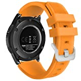 MoKo Correa Compatible con Samsung Galaxy Watch 3 45mm/Galaxy Watch 46mm/Gear S3 Frontier/Classic/Huawei Watch GT2 Pro/GT/GT2 46mm, 22mm Pulsera Deportiva de Silicona de Repuesto - Naranja