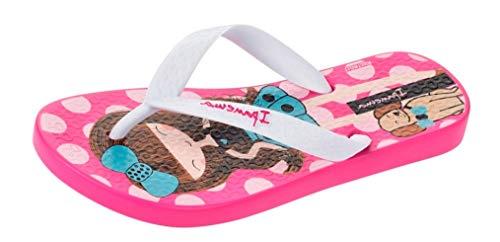 Ipanema Brasil Dotty Enfant Filles Flip Flops, Noir-Rose, Pointure 38