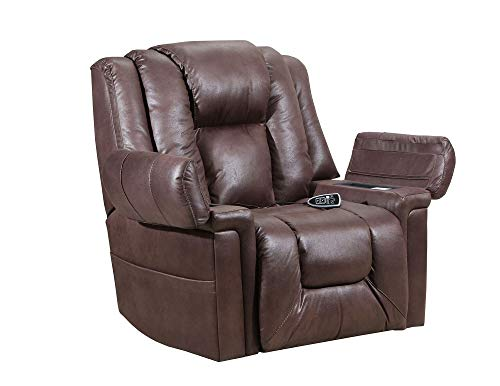 Lane Boss (Extra Large) Big Man Power Lift Recliner in Turbo Espresso with Duo Motors to Control Back and Footrest Separately. Rated for Up to 450 Lbs. Free curbside Delivery.