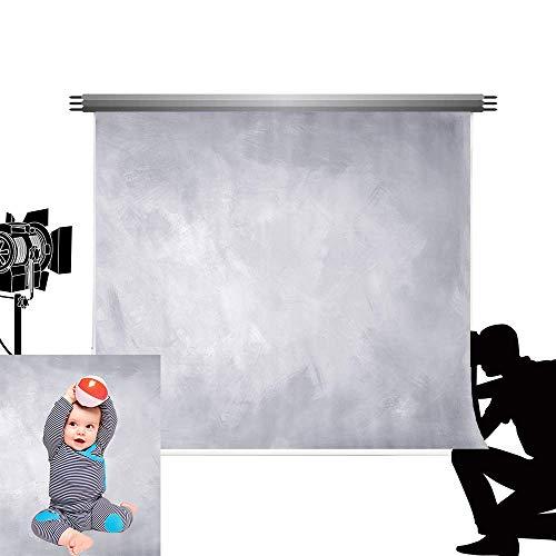 Kate 2,2*1,5m abstrakt hellgrau Fotografie Hintergrund grau einfarbig Foto Hintergrund Retro mikrofaser Requisiten für Kinder Fotografie Studio