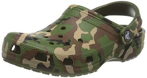 Crocs Mixte Classic Printed Camo Clog, Army Green/Multi, 37/38 EU