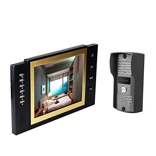 OWSOO Videocamera Citofoni WIFI Home Security da 8 pollici a colori LCD Videocitofono Citofono Sistema di visione notturna Kit IR Night Vision Camera campanello per appartamento casa