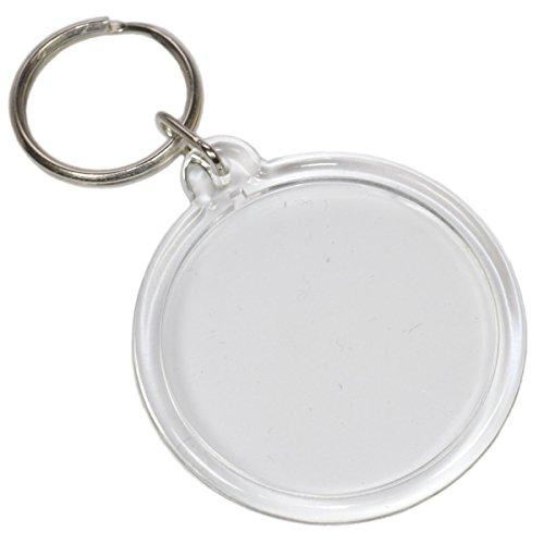 Foto Schlüsselanhänger Acryl rund transparent - für Passfoto/Bild Ø 4,1cm