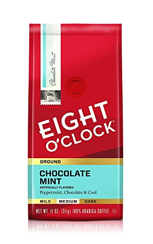 Eight O'Clock Ground Coffee, Chocolate Mint, 11 Ounce
