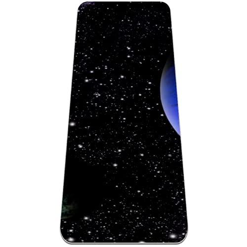 Space Planet Starry Sky - Alfombrilla de yoga antideslizante, respetuosa con el medio ambiente, para yoga, pilates y ejercicios de piso de 183 x 81 cm