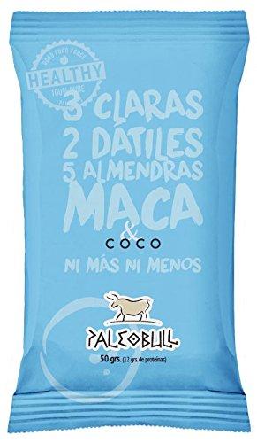 Barrita Energética Paleo 100% natural - Alta en proteínas - Almendras, Coco y Maca (50g)