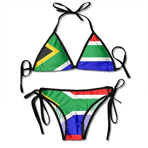 QUEMIN Costume da Bagno Push-up Imbottito in Sud Africa Costume da Bagno in Due Pezzi Costume da Bagno da Spiaggia per Donna Costume da Bagno Sexy 2 Pezzi Nero