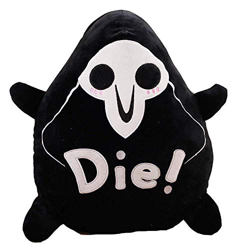 Detazhi 40cm/15.8in Reaper Plush Toys Round Pillow Seat Cushion Cute Figure Halloween Toy Overwatch Cool Reaper Plush Pillow