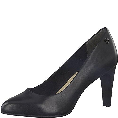 Tamaris Damen Pumps 22405-21,Frauen Pumps,elegant,feminin,festlich,Hochhackige Schuhe,Abendschuhe,Businessschuh,Trachten-Schuh,Trichterabsatz 8cm,Black Leather,EU 36