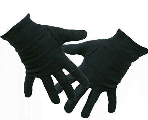 Handschuhe, für Erwachsene, in DREI Farben erhältlich, schwarz, weiß oder rot, Winteraccessoire, Karneval. Fasching (Schwarz)