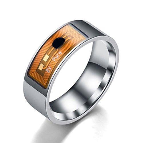 RONSHIN Electronics Accesories NFC - Anillo inteligente multifuncional impermeable con anillo digital inteligente para regalo de plata 8