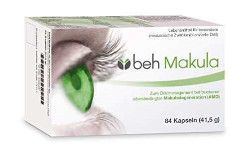 beh Makula Kapseln - bei trockener altersbedingter Makuladegeneration (bilanzierte Diät) mit patentiertem B-Vitaminkomplex (B6, B12 & Folsäure) plus Lutein und Heidelbeerextrakt (84 Kapseln)